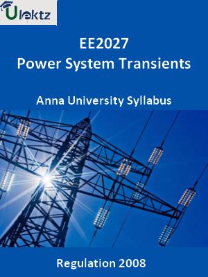 Power System Transients - Syllabus