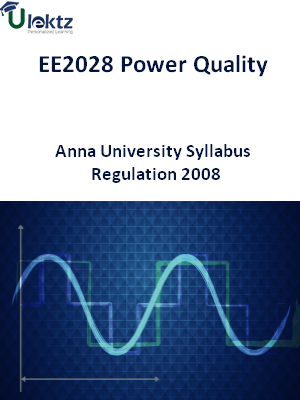 Power Quality - Syllabus