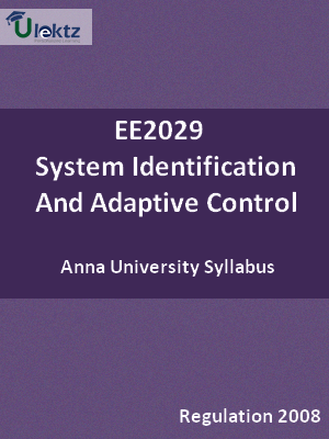System Identification And Adaptive Control - Syllabus