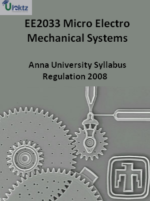 Micro Electro Mechanical Systems - Syllabus