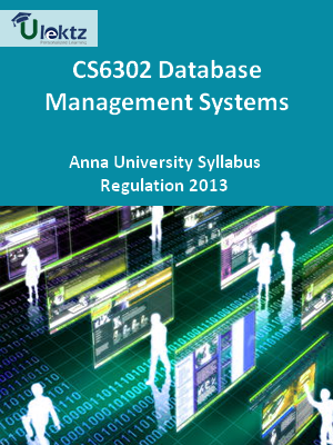 Database Management Systems - Syllabus