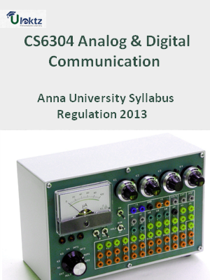 Analog And Digital Communication - Syllabus