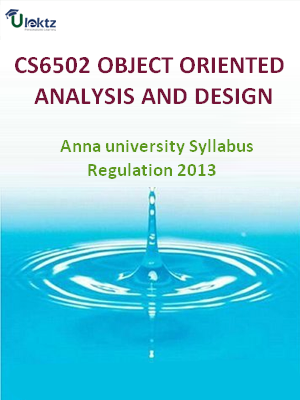 Object Oriented Analysis And Design - Syllabus