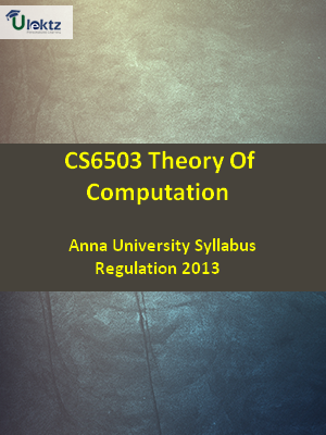 Theory Of Computation - Syllabus