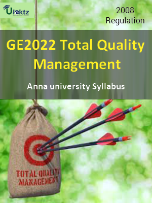 Total Quality Mnaagement - Syllabus