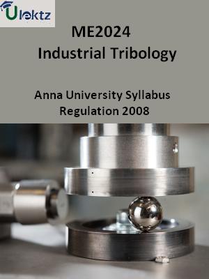 Industrial Tribology - Syllabus
