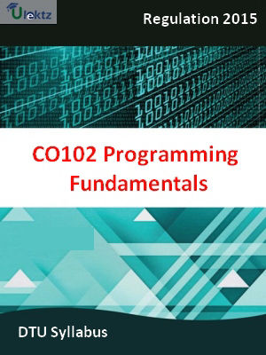 Programming Fundamentals - Syllabus
