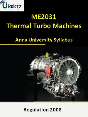 Thermal Turbo Machines - Syllabus