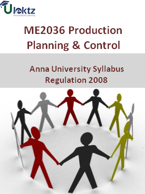 Production Planning And Control - Syllabus