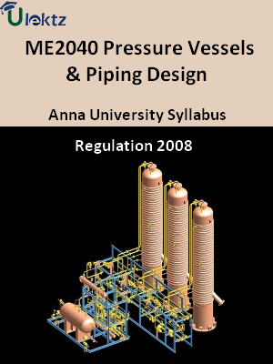 Pressure Vessels & Piping Design - Syllabus