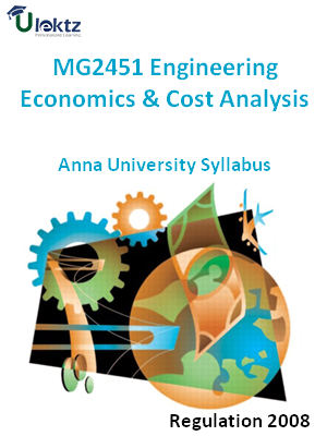 Engineering Economics And Cost Analysi - Syllabus