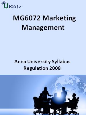 Marketing Management - Syllabus