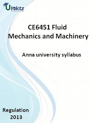 Fluid Mechanics and Machinery - Syllabus