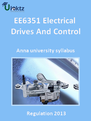 Electrical Drives And Control - Syllabus
