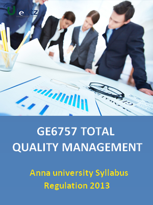 Total Quality Management - Syllabus