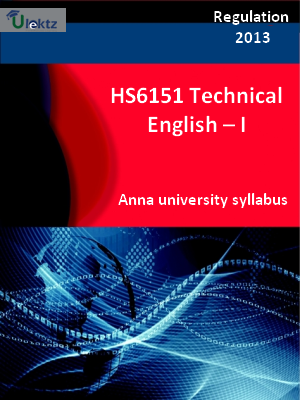 Technical English – I - Syllabus