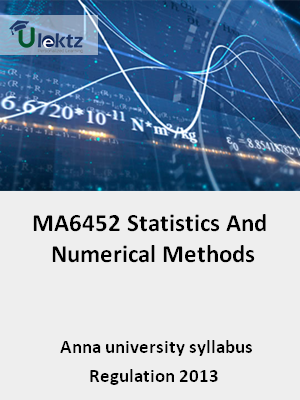 Statistics And Numerical Methods - Syllabus