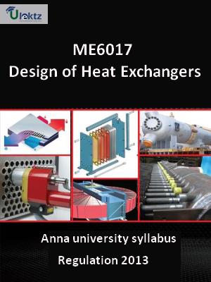 Design of Heat Exchangers - Syllabus
