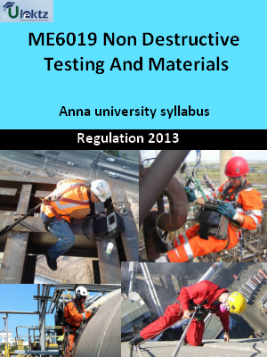 Non Destructive Testing And Materials - Syllabus