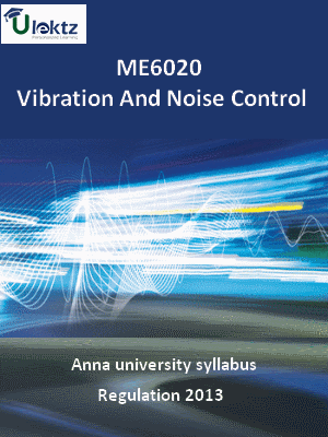 Vibration And Noise Control - Syllabus