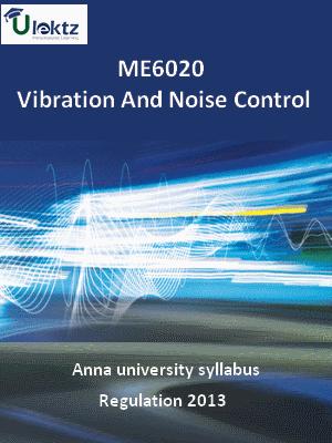 Vibration And Noise Control - Syllabus