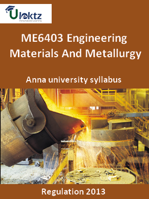 Engineering Materials And Metallurgy - Syllabus