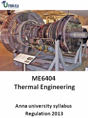 Thermal Engineering - Syllabus