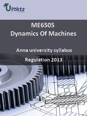 Dynamics Of Machines - Syllabus