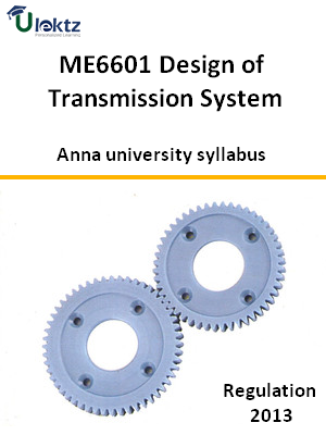 Design of Transmission System - Syllabus