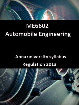 Automobile Engineering - Syllabus