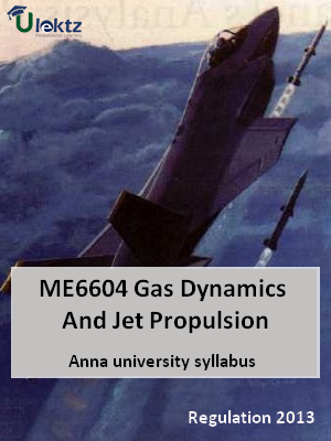 Gas Dynamics And Jet Propulsion - Syllabus