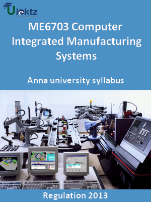 Computer Integrated Manufacturing Systems - Syllabus