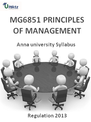 Principles Of Management - Syllabus