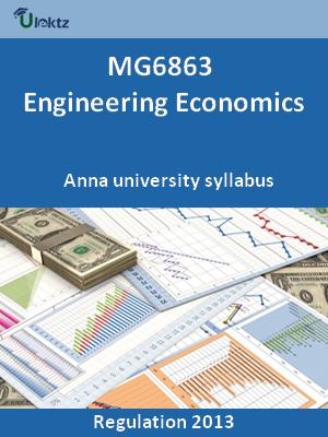 Engineering Economics - Syllabus