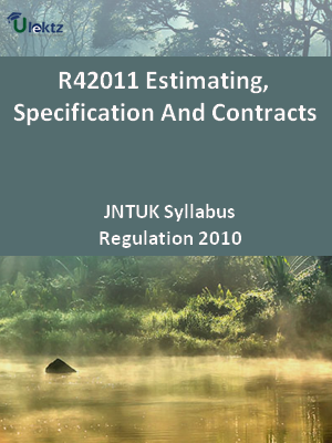 Estimating, Specification And Contracts - Syllabus