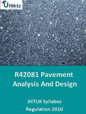 Pavement Analysis And Design - Syllabus