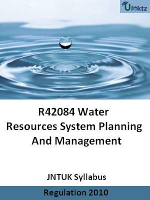 Water Resources System Planning And Management - Syllabus