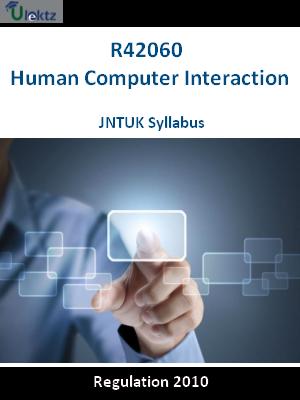 Human Computer Interaction - Syllabus