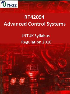 Advanced Control Systems - Syllabus
