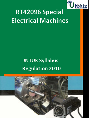 Special Electrical Machines - Syllabus