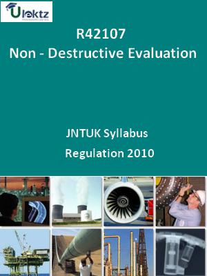 Non - Destructive Evaluation - Syllabus