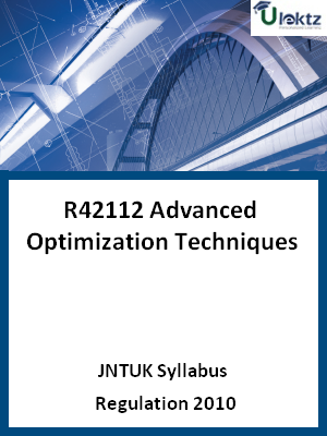 Advanced Optimization Techniques - Syllabus