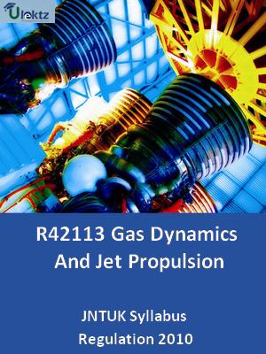 Gas Dynamics And Jet Propulsion - Syllabus