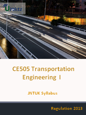 Transportation Engineering – I - Syllabus