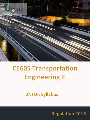Transportation Engineering – II - Syllabus
