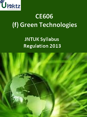(f) Green Technologies - Syllabus