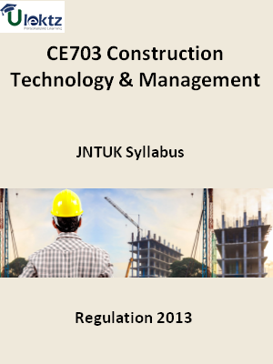 Construction Technology And Management - Syllabus