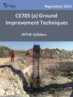 (a) Ground Improvement Techniques - Syllabus
