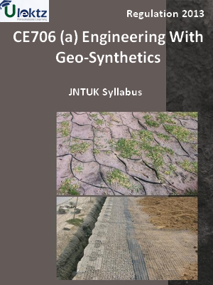 (a) Engineering With Geo-Synthetics - Syllabus