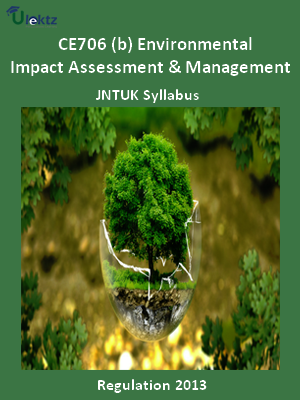 (b) Environmental Impact Assessment And Management - Syllabus